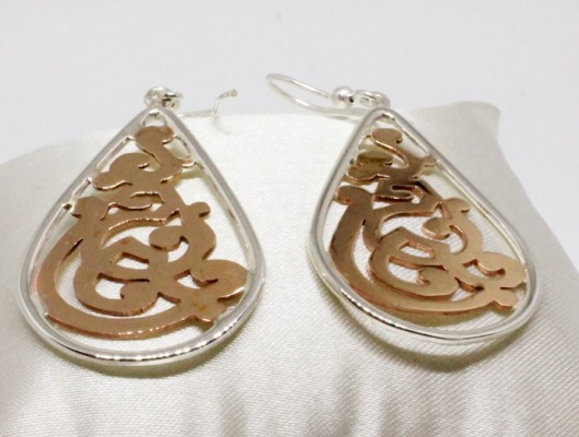 Silver earrings with openwork design (cod.OR.AG.22)