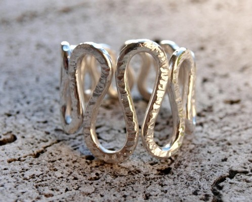 "Silver ""wave"" ring (cod.AN.AG.01)"