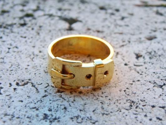 """Anello in ottone dorato in stile """"cintura"""" (cod.AN.OT.09)"""