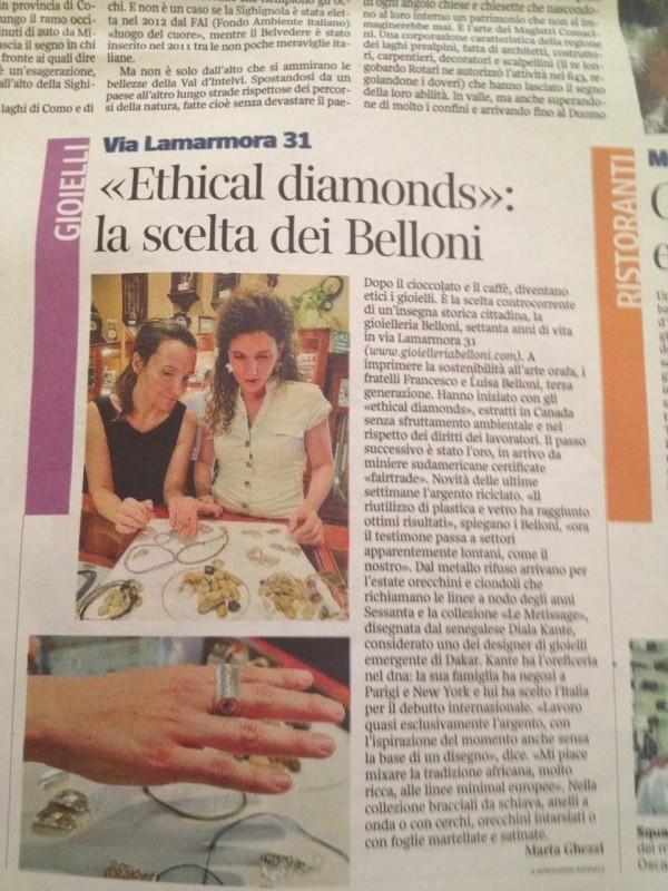 Articolo Corriere 21giugno2013_Belloni