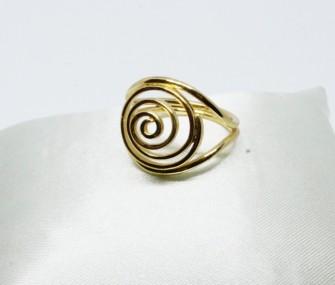 Anello in ottone con spirale (cod.AN.OT.16)