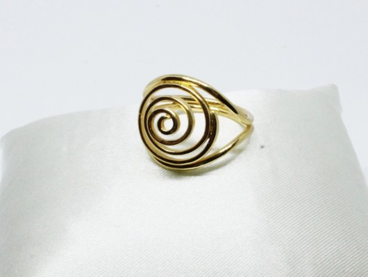 Brass ring with spiral (cod.AN.OT.16)