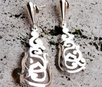 Orecchini in argento con disegni traforati (cod.OR.AG.01)