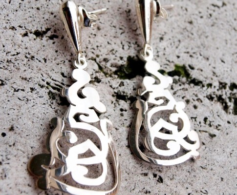 Silver earrings with openwork designs (cod.OR.AG.01)