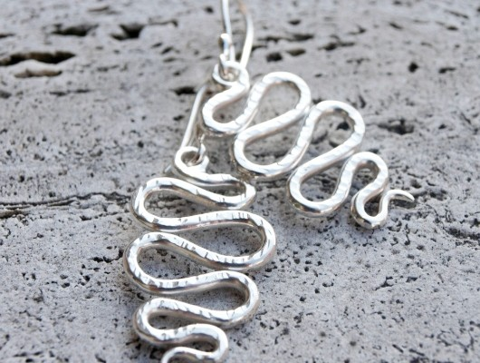 Silver wave earrings (cod.OR.AG.03)