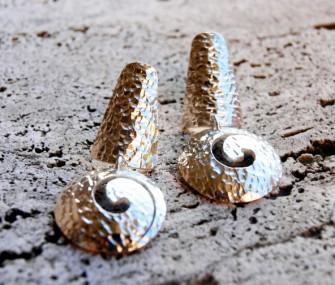 Orecchini in argento con spirale (cod.OR.AG.06)