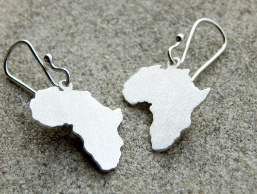 Africa silver earrings (code OR.AG.11)