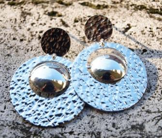 Orecchini in argento con tondi (cod.OR.AG.12)