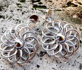 Orecchini in argento con fili (cod.OR.AG.29)