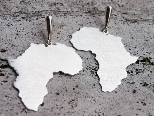 Africa silver earrings (code OR.AG.70)