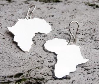 Orecchini Africa in argento (cod. OR.AG.71)