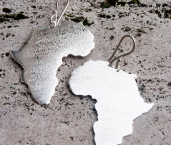 """Orecchini """"Africa"""" in argento – large (cod. OR.AG.72)"""