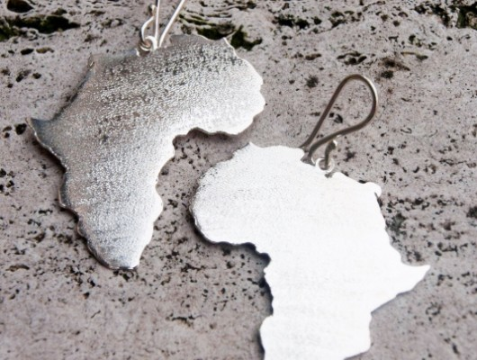 "Silver ""Africa"" earrings – large (code OR.AG.72)"