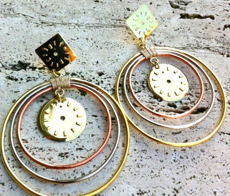Earrings with circles and watch dials (cod.OR.OT.05)