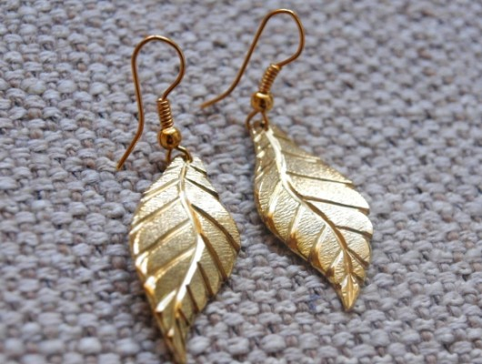 Small leaf earrings (cod.OR.OT.20)