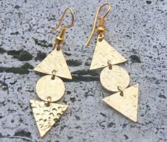 Orecchini piccoli con triangoli e tondo (cod.OR.OT.27)