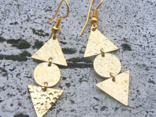 Small earrings with triangles and round (cod.OR.OT.27)