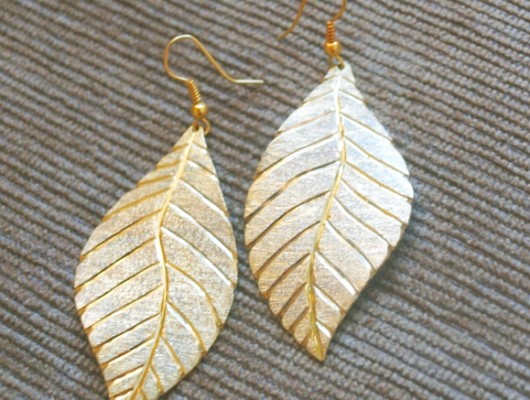 Large leaf earrings (cod.OR.OT.34)