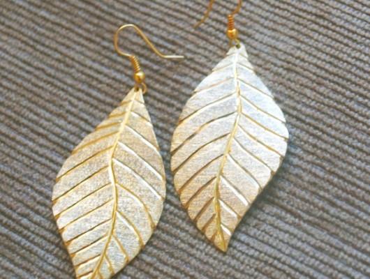 Boucles d'oreilles grandes feuilles (cod.OR.OT.34)