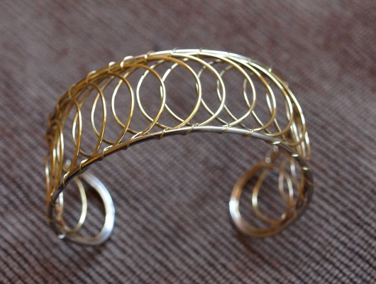 Bracciale con cerchi a spirale (cod.BR.OT.16)