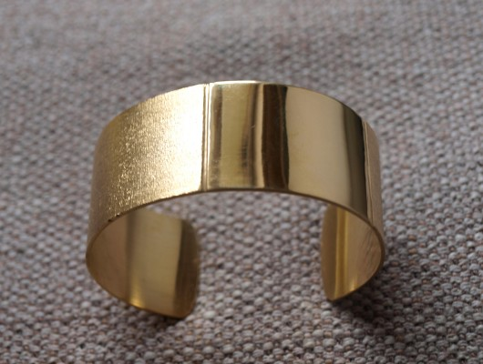Brass bracelet with regular band (cod.BR.OT.06)