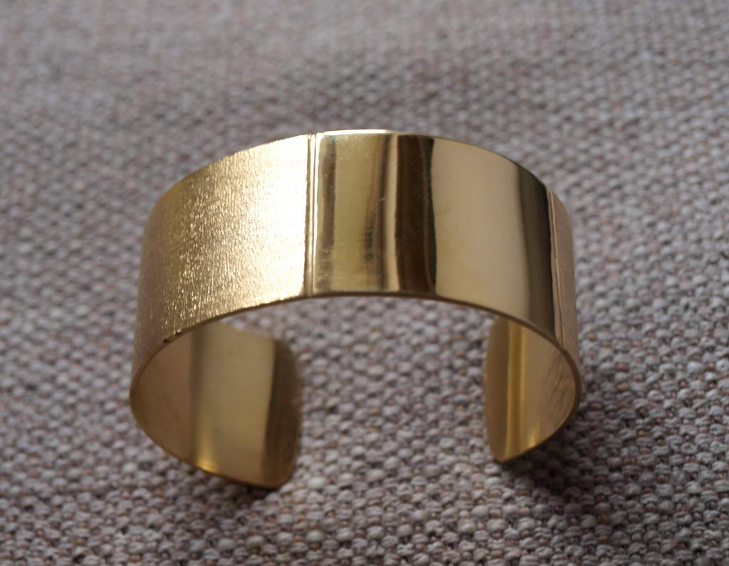 Brass bracelet with regular band (cod.BR.OT.06)