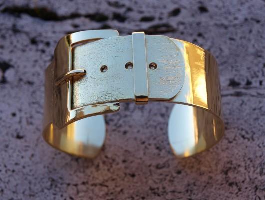 """Bracelet en laiton en style """"Ceinture"""" (cod.BR.OT.07)"""