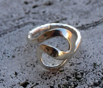"""Silver ring with """"s"""" (cod.AN.AG.06)"""