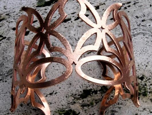 """Bracelet """"papillon"""" en bronze (cod.BR.BZ.14)"""