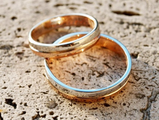 BAGUES DE MARIAGE EN OR BLANC ET ROSE (Cod. FN.AU.15)