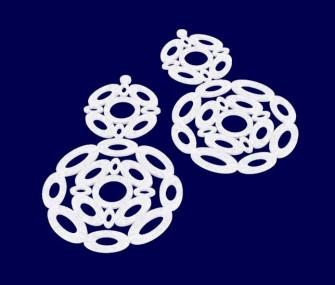 """Gioielli digitali, orecchini collezione """"vortice"""" 2"""