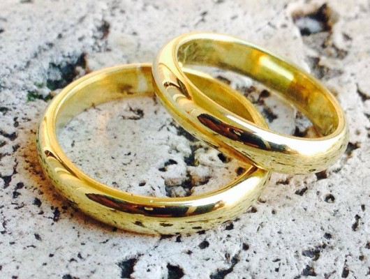 Brass wedding rings