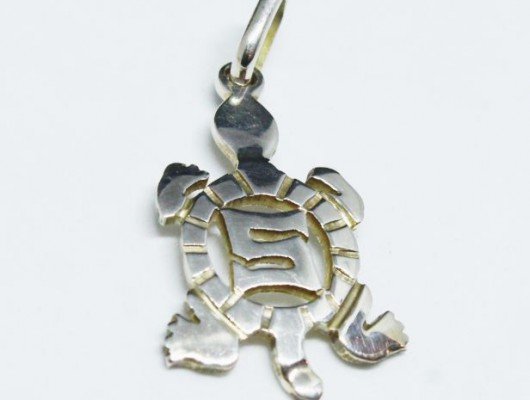 "Small silver ""turtle"" pendant"