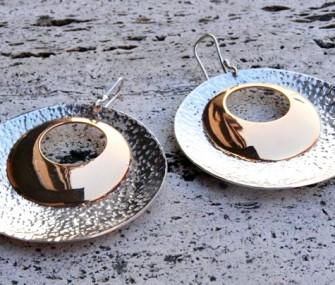 Orecchini in argento e bronzo (cod.OR.AG.42)