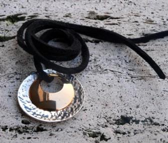 Pendente in argento e bronzo (PN.AG.19)