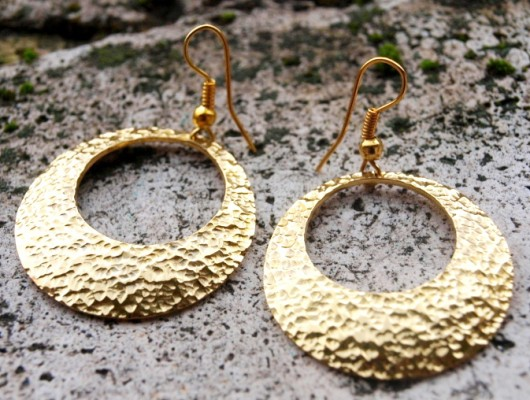 Brass hoop earrings (cod.OR.OT.25)