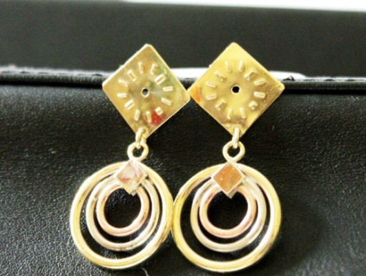 Brass earrings with small dial (code OR.OT.66)