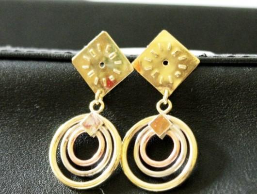 Boucles d'oreilles en laiton avec petit cadran (code OR.OT.66)