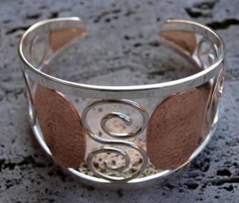 Bracciale in argento con spirale (cod.BR.AG.08)