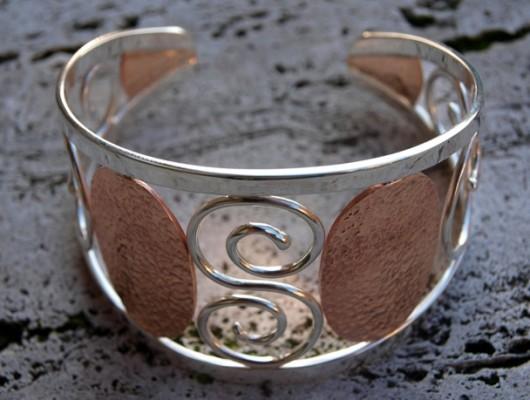 Bracelet en argent avec spirale (cod.BR.AG.08)