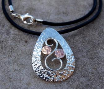 Pendente in argento con spirale e tondi (cod.PN.AG.32)