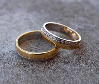 Fedi con zirconi in argento e ottone