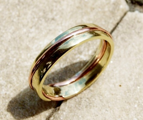 MOEBIUS WEDDING RINGS IN YELLOW AND RED GOLD (Cod.FN.AU.13)