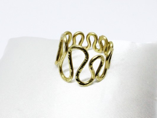 "Bague en laiton ""vague"" (cod.AN.OT.20)"