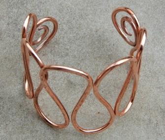"""Bracciale a """"onda"""" in bronzo dorato (cod.BR.BZ.09)"""