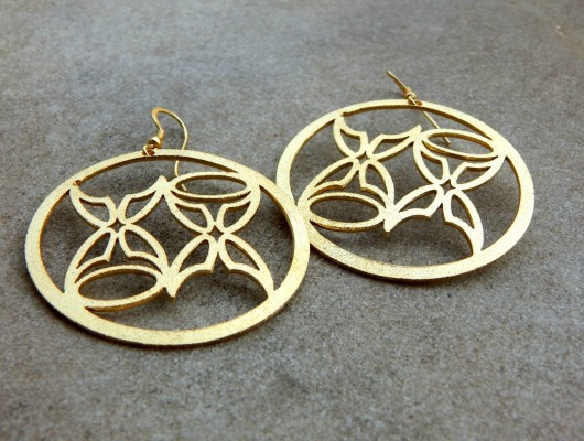"""Butterfly"" earrings in gold-plated brass (code OR.OT.58)"