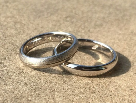 Satin Gold Wedding Rings (Cod. FN.AU.19)