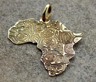 Pendente Africa con incisione a tessuto (cod. PN.OT.28)
