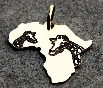 Pendente Africa con giraffe (cod. PN.OT.30)