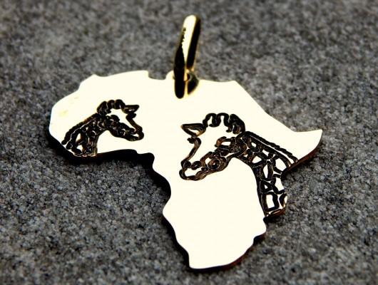 Africa brass pendant with giraffes (cod. PN.OT.30)